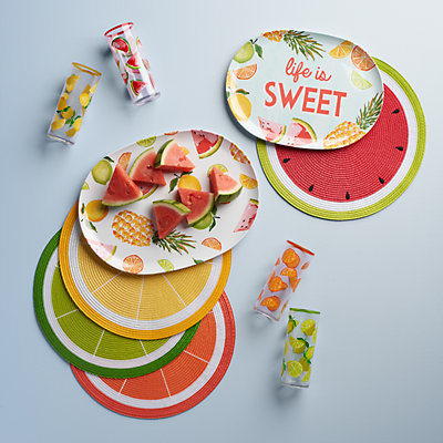 Celebrate Summer Together Citrus Fruit Placemat 4-pk.