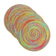 Celebrate Summer Together Round Multi-Color Placemat 4-pk.