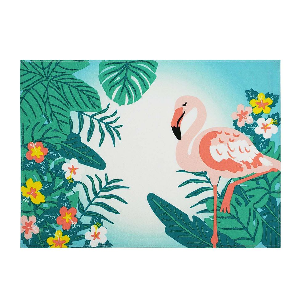 Celebrate Summer Together Flamingo Placemat