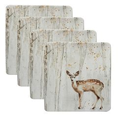 Certified International A Woodland Walk 4-piece Dinner Plate Set