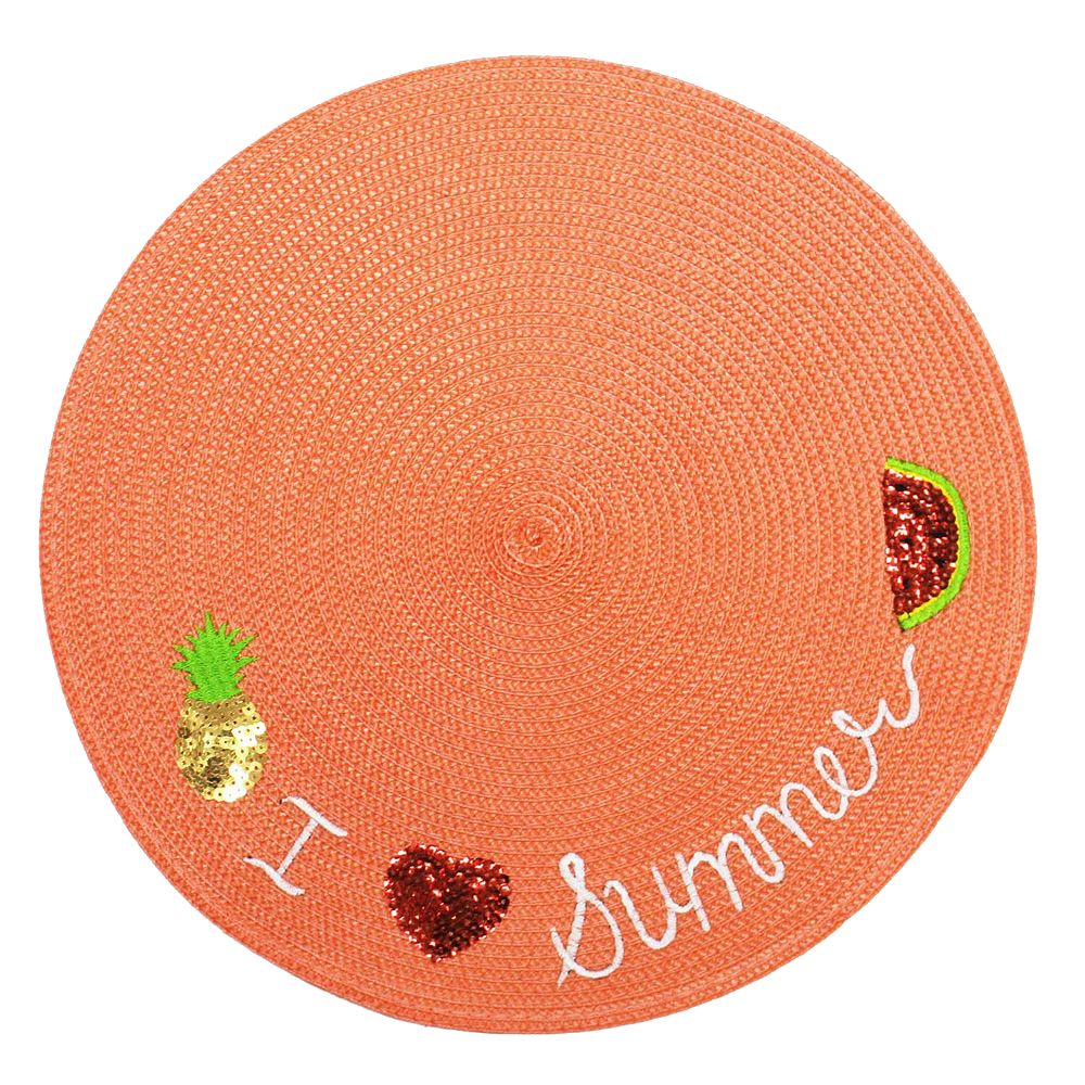 Celebrate Summer Together I Love Summer Round Placemat