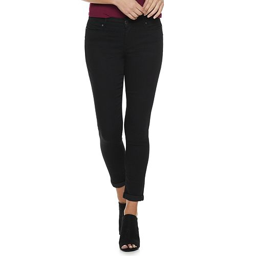 Women's Juicy Couture Flaunt It Midrise Cuffed Skinny Ankle Jeans