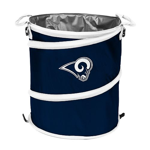 Logo Brands Los Angeles Rams Collapsible 3-in-1 Trashcan Cooler