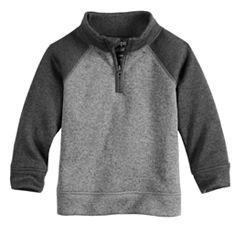 Toddler Boy Jumping Beans® Quarter Zip Raglan Sweater Fleece Pullover
