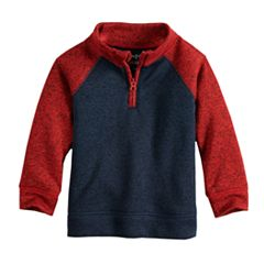Toddler Boy Jumping Beans® Quarter Zip Raglan Sweater Fleece Pullover