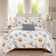 Chic Home Owl Forest Comforter Set