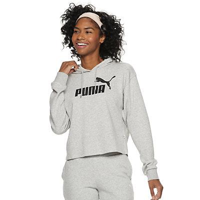 Women's PUMA Essential Logo Cropped Hoodie