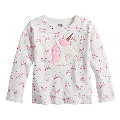 Girls 4-10 Jumping Beans® Softest Fleece Fuzzy Unicorn Applique Pullover