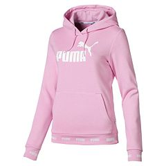 461154a9402 Women's PUMA Amplified Hoodie. Cotton Black Pale Pink ...