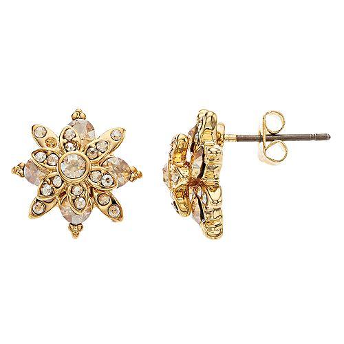 Brilliance Star Stud Earrings with Swarovski Crystal