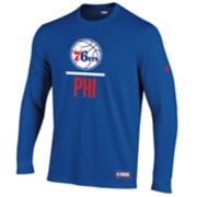 Men's Under Armour Philadelphia 76ers Lock Up Long-Sleeve Tee