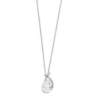 Brilliance Teardrop Pendant Necklace with Swarovski Crystal