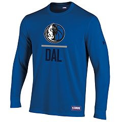 Men's Under Armour Dallas Mavericks Lock Up Long-Sleeve Tee