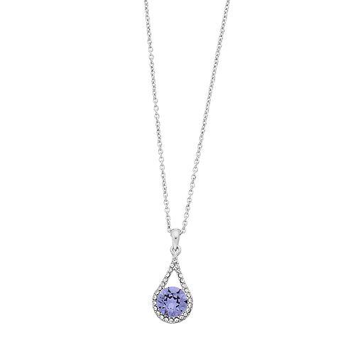 Brilliance Oval Teardrop Pendant Necklace with Swarovski Crystal
