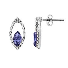 Brilliance Marquise Stud Earrings with Swarovski Crystal