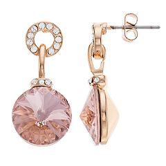 Brilliance Charm Drop Earrings with Swarovski Crystal