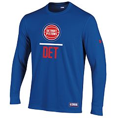 Men's Under Armour Detroit Pistons Lock Up Long-Sleeve Tee