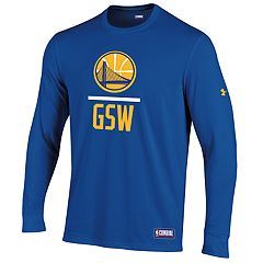 Men's Under Armour Golden State Warriors Lock Up Long-Sleeve Tee