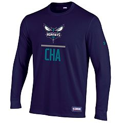 Men's Under Armour Charlotte Hornets Lock Up Long-Sleeve Tee