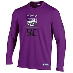 Men's Under Armour Sacramento Kings Lock Up Long-Sleeve Tee