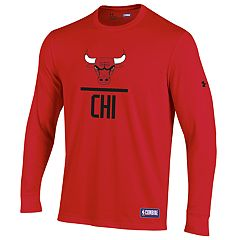 Men's Under Armour Chicago Bulls Lock Up Long-Sleeve Tee