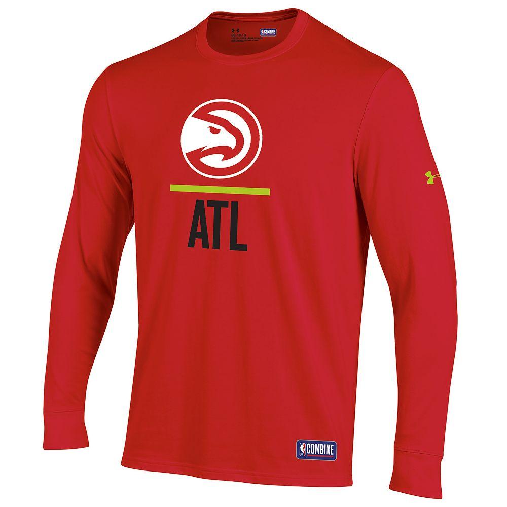 Men's Under Armour Atlanta Hawks Lock Up Long-Sleeve Tee
