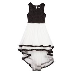 Girls 7-16 Speechless High-Low Hem Ribbon Trimmed Dress