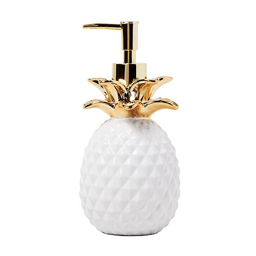 Saturday Knight, Ltd. Gilded Pineapple Soap Pump