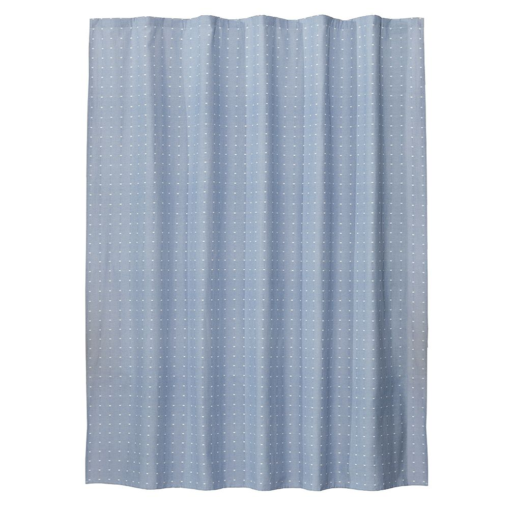 Saturday Knight, Ltd. Chambray Squares Fabric Shower Curtain