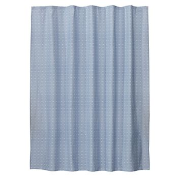 Saturday Knight, Ltd. Chambray Squares Fabric Shower Curtain