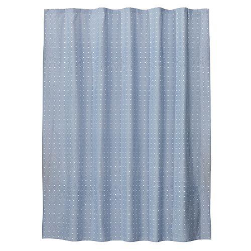 Saturday Knight Ltd Chambray Squares Fabric Shower Curtain