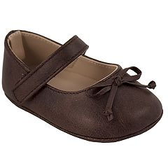 350d876ccded Baby Girl Wee Kids Brown Mary Jane Crib Shoes
