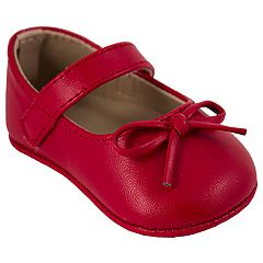 Baby Girl Wee Kids Red Mary Jane Crib Shoes