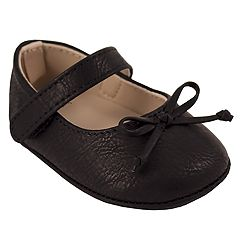 Baby Girl Wee Kids Black Mary Jane Crib Shoes