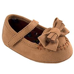Baby Girl Wee Kids Faux-Suede Mary Jane Moccasin Crib Shoes