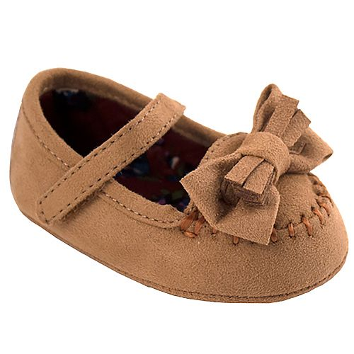 Baby Girl Wee Kids Faux Suede Mary Jane Moccasin Crib Shoes