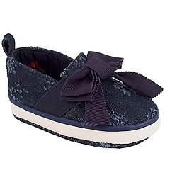 Baby Girl Wee Kids Distressed Denim Slip-On Crib Shoes