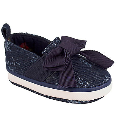 Baby Girl Wee Kids Distressed Denim Slip-On Crib Shoes