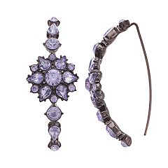 Simply Vera Vera Wang Purple Flower Threader Earrings