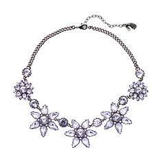 Simply Vera Vera Wang Purple Flower Statement Necklace