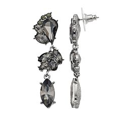 Simply Vera Vera Wang Gray Linear Drop Earrings