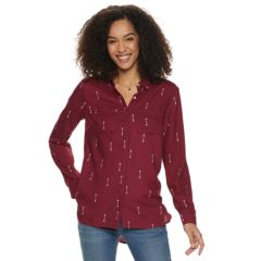 Womens Red Blouses Tops Clothing Kohl S