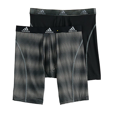 Men's adidas  2-pack Sport Performance Climalite Graphic Midway Boxer Briefs