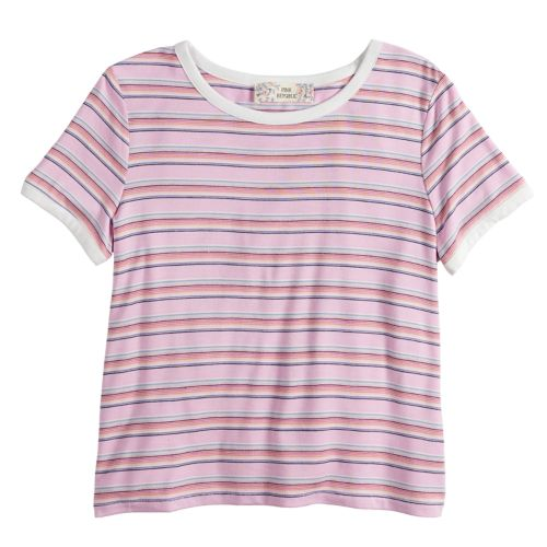 Girls 7 16 & Plus Size Pink Republic Striped Tee by Kohl's