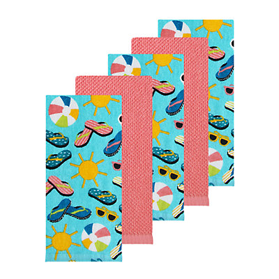 Celebrate Summer Together Summer Toss Kitchen Towel 5-pk.