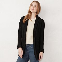 Women's LC Lauren Conrad Textured Shawl Collar Duster Blazer