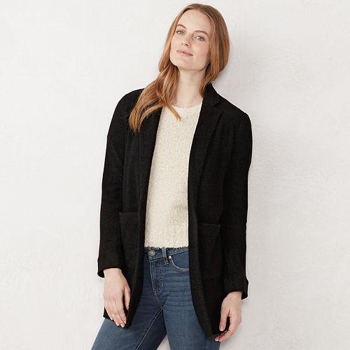 Women's LC Lauren Conrad Textured Shawl Collar Duster Blazer