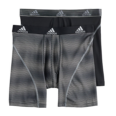Men's adidas  2-pack Sport Performance Climalite Graphic 2-Pack Boxer Briefs