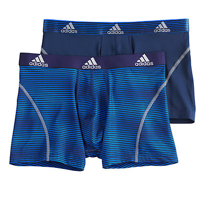 Men's adidas  2-pack Sport Performance Climalite Graphic Trunks