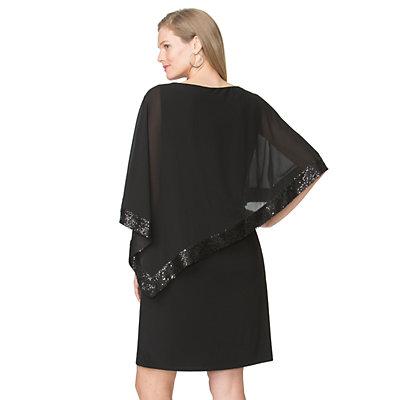 Women's Chaps Embellished Overlay Sheath Dress